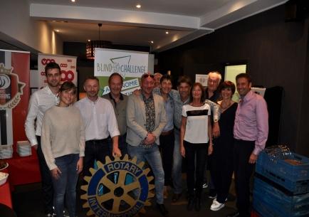 Le groupe de guidage de ski alpin avec les Présidents des deux clubs rotariens